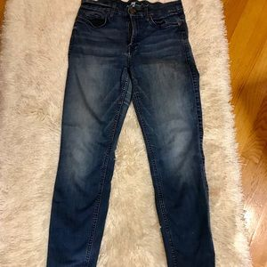7 for all Mankind Kimmie Crop stretchy jeans,
